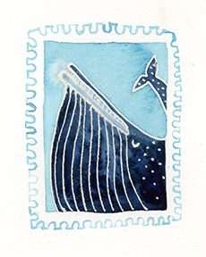 stamp-whale